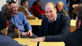 Duke of Cambridge shares a joke