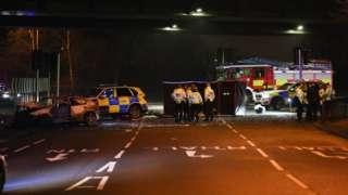 Crash on Tinsley viaduct