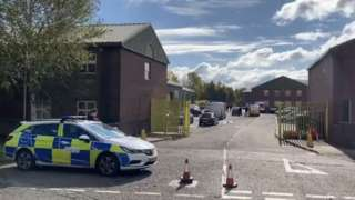 Police at the scene in Horsehay