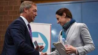 Nigel Farage and Annunziata Rees-Mogg