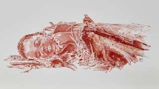 An artist's interpretation of Mtoto's burial (c) Fernando Fueyo
