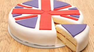 Cake with union flag