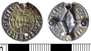 Medieval coin turned jewellery