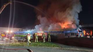 Fire at a warehouse in Brackmills Industrial Estate, Northampton