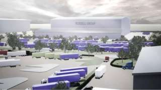 CGI of planned new Russell Group hub at Ravenscraig