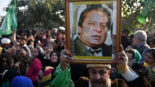 Sharif supporters in Islamabad
