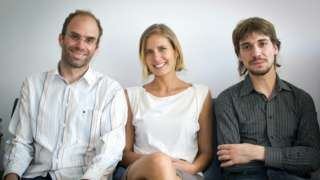 S-Biomedic founders (left to right) Bernhard Pätzold, Veronika Oudova and Marc Güell
