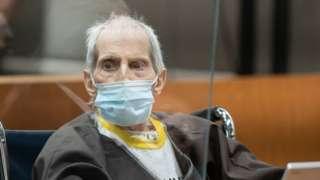 Robert Durst is sentenced on October 14, 2021 in Los Angeles, California.