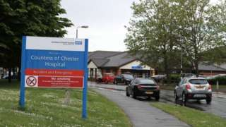 Front entrance to the Countess of Chester Hospital