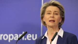EU Commission President Ursula von der Leyen, 20 Jan 21