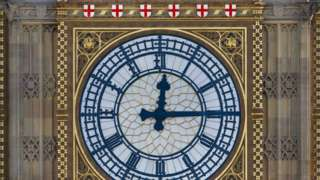 Artist's impression of new colour scheme for Big Ben (Rendering of Proposed Colour Scheme from paint analysis, by Purcell)