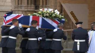 Funeral service for Cpl Jonathan Bayliss
