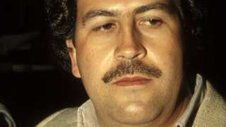 Pablo Escobar, the godfather of the Medellin Cartel in Colombia in February , 1988.