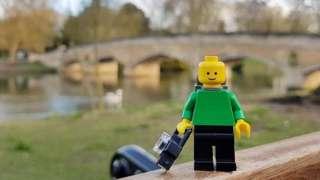 Lego man at Abbey Park