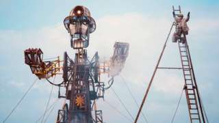 Man Engine in day light