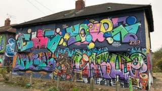 Graffiti on house in Hull