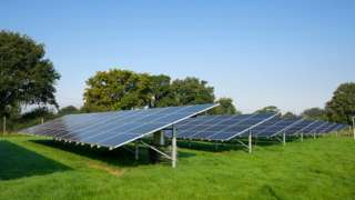 Stock solar panel image