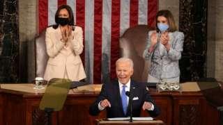 ABD Başkan Yardımcısı Harris, ABD Başkanı Biden ve Temsilciler Meclisi Başkanı Pelosi