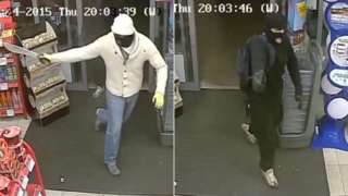 CCTV images of armed robbery