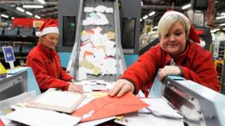 Royal Mail workers at Christmas
