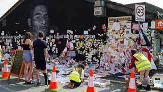 Tributes to Marcus Rashford being removed to be preserved