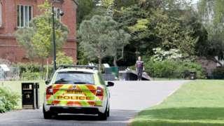 PSNI car on patrol