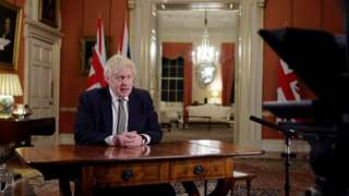 Boris Johnson speaks at Downing Street