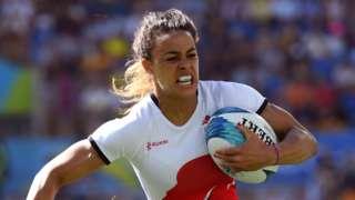 Deborah Fleming playing for England