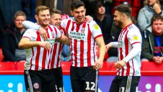 Jack O'Connell (left) scored Sheffield United's opening goal