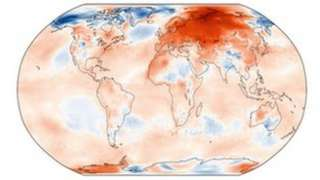 Surface air temperature anomaly Feb 2020