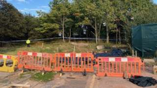 Workmen found suspected human remains off Rossington Road
