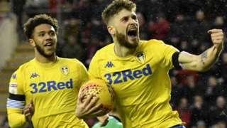 Leeds United celebrate a goal
