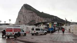 Gibraltar border, file pic, 17 Mar 20
