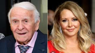 Marcel Stellman and Carol Vorderman