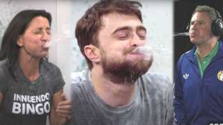 Davina, Daniel Radcliffe and Will Ferrell playing Innuendo Bingo