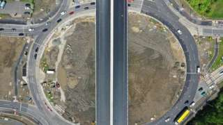 Aerial image of what the flyover will look like