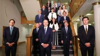 Micheál Martin (centre) unveiled his new Cabinet team on Saturday