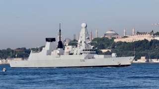 HMS Defender in Istanbul June 2021