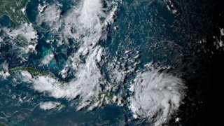 Imagem de satélite mostra chegada de Dorian