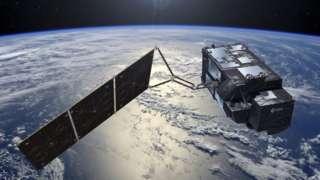 Artist impression of a satellite