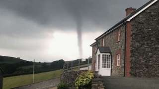 Brecon tornado