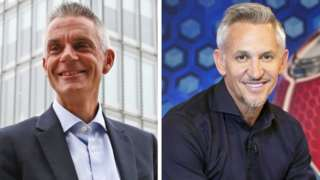 Tim Davie and Gary Lineker