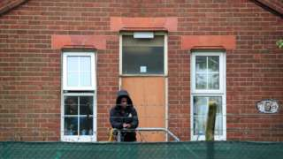 Asylum seeker at Napier Barracks