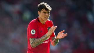 Victor Lindelof playing for Manchester United