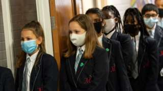 Pupils at Moor End Academy in Huddersfield