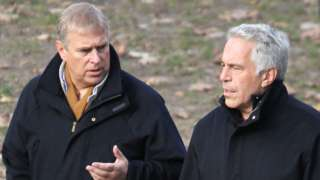Prince Andrew and Jeffrey Epstein pictured taking a stroll in New York's Central Park