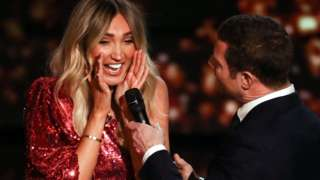 Megan McKenna and Dermot O'Leary on The X Factor: Celebrity