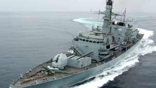 ब्रिटिश नौसैनिक जहाज