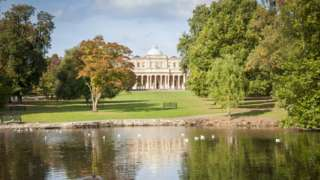 the Pittville Pump Rooms And Park In Cheltenham