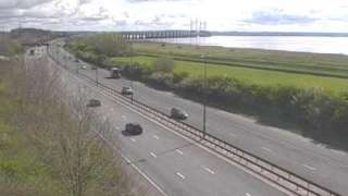 M4 near the Prince of Wales Bridge